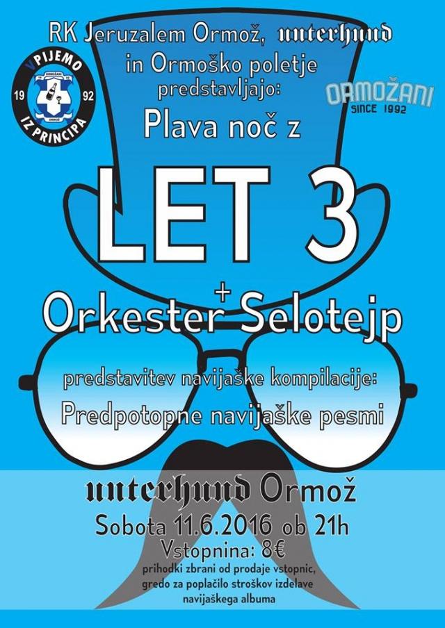 PLAVA NOČ: Let 3, Orkester Selotejp
