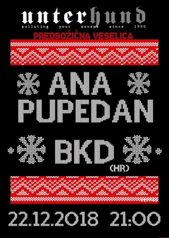 Predbožična veselica: Ana Pupedan, BKD